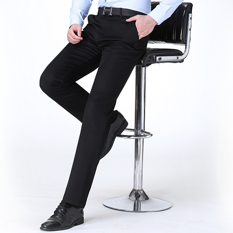New fashion mens trousers autumn and winter formal trousers business casual mens suit trousers SLIM STRAIGHT pants mens trousers
