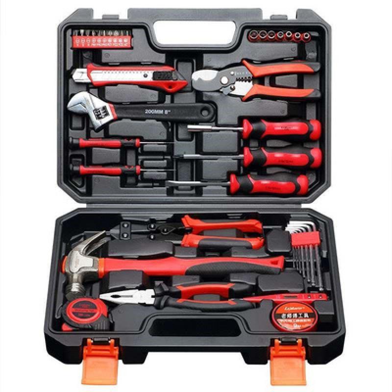 家用工具套装电工木工维修工具箱组套多功能手动组合家装五金家用