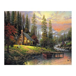 Diamond cross cabin DIY painting stitch