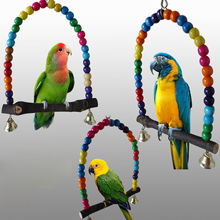 Parrot Cage Colorful New arrival Stand Swing Toy Bird Frame