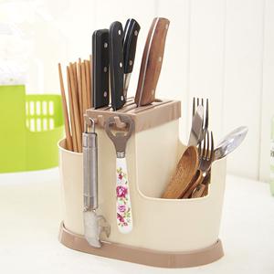 筷子筒家用筷子架挂式塑料筷子笼多功能置物架沥水厨房筷子收纳盒