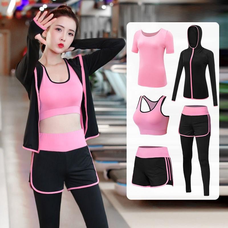 春夏季运动套装女瑜伽服新款晨跑健身房初学者专业跑步速干珈网红