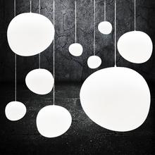 北欧设计师创意个性艺术餐厅吧台极简约现代挑空异形白色玻璃吊灯