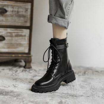 英伦风2020年新款秋冬季百搭马丁靴