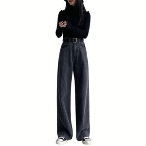 宽松直筒黑色2021年夏季新款牛仔裤