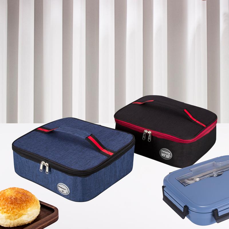 手提包学生饭盒袋大号方形餐盒袋子
