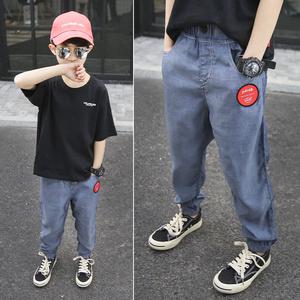 男童裤子夏季薄款儿童防蚊裤2021新款夏装休闲运动长裤童装牛仔裤