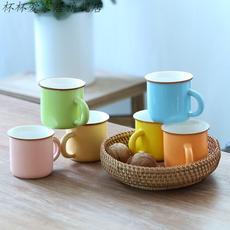 简易茶水中式手柄商务办公室茶缸喝茶简约绿茶大号容量整套茶具