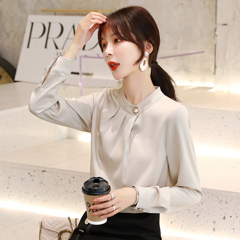 IEF / aiyifu love clothes spring top foreign style chiffon shirt womens autumn and winter clothes new fashion in 2019 2