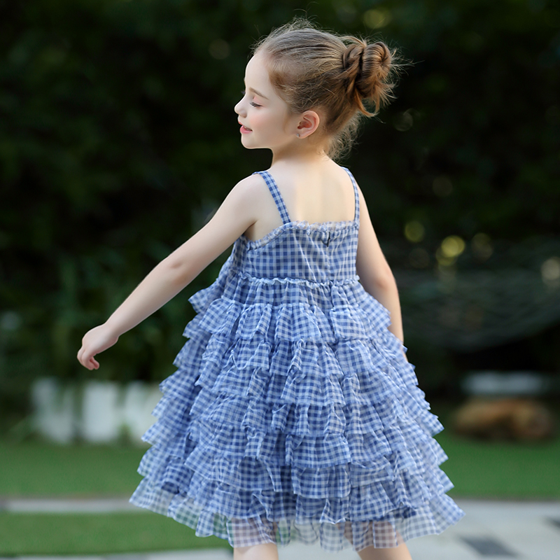 IK children's dress girl's dress 2020 new summer baby puff yarn children's skirt super air princess skirt trend