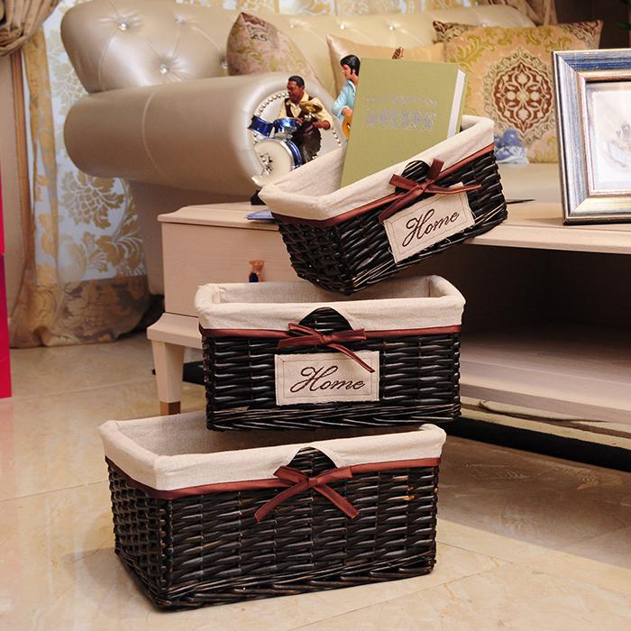 Корзина сын ротанг хранение корзина плетеные корзины xl нулю еда коробка для хранения континентальный сельская местность ткань крышка прачечная корзина