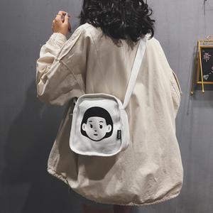 小包包女包新款2020潮时尚百搭可爱学生单肩帆布包斜挎网红小布包