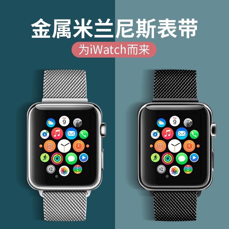 【官网款特惠价】亿倾苹果手表表带apple watch1/2/3/4/5代金属适用iwatch表带个性潮男女通用米兰尼斯不锈钢