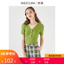 Xiyu Women's Wear Spring 2019 New Baitao V-collar Slim Knitted Sweater 10390171