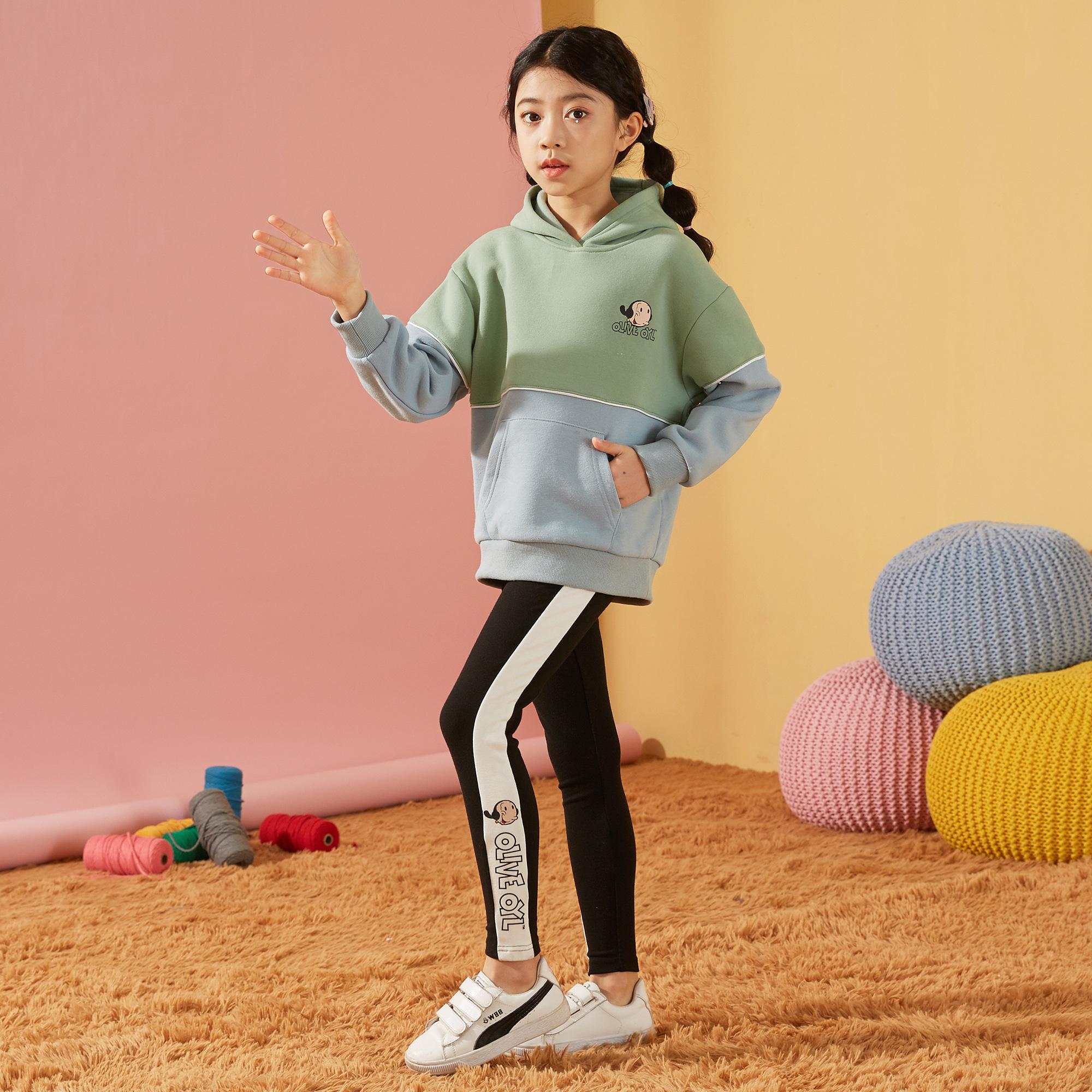 女童卫衣2021秋装新款中大童儿童韩版休闲上衣女儿童卫衣