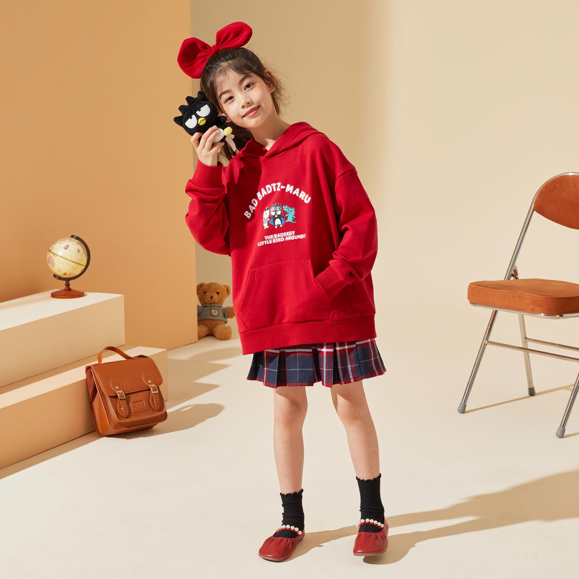 女童卫衣2021秋装新款中大童韩版连帽卡通上衣儿童卫衣潮