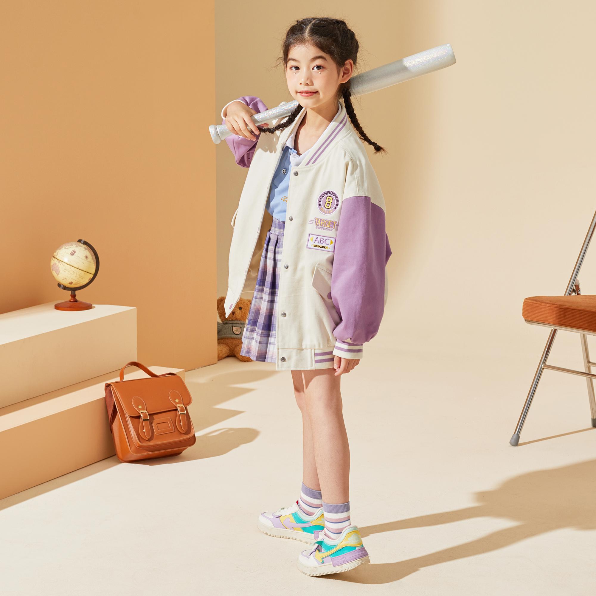女童棒球服2021秋装新款中大童儿童秋季宽松韩版长袖春秋外套