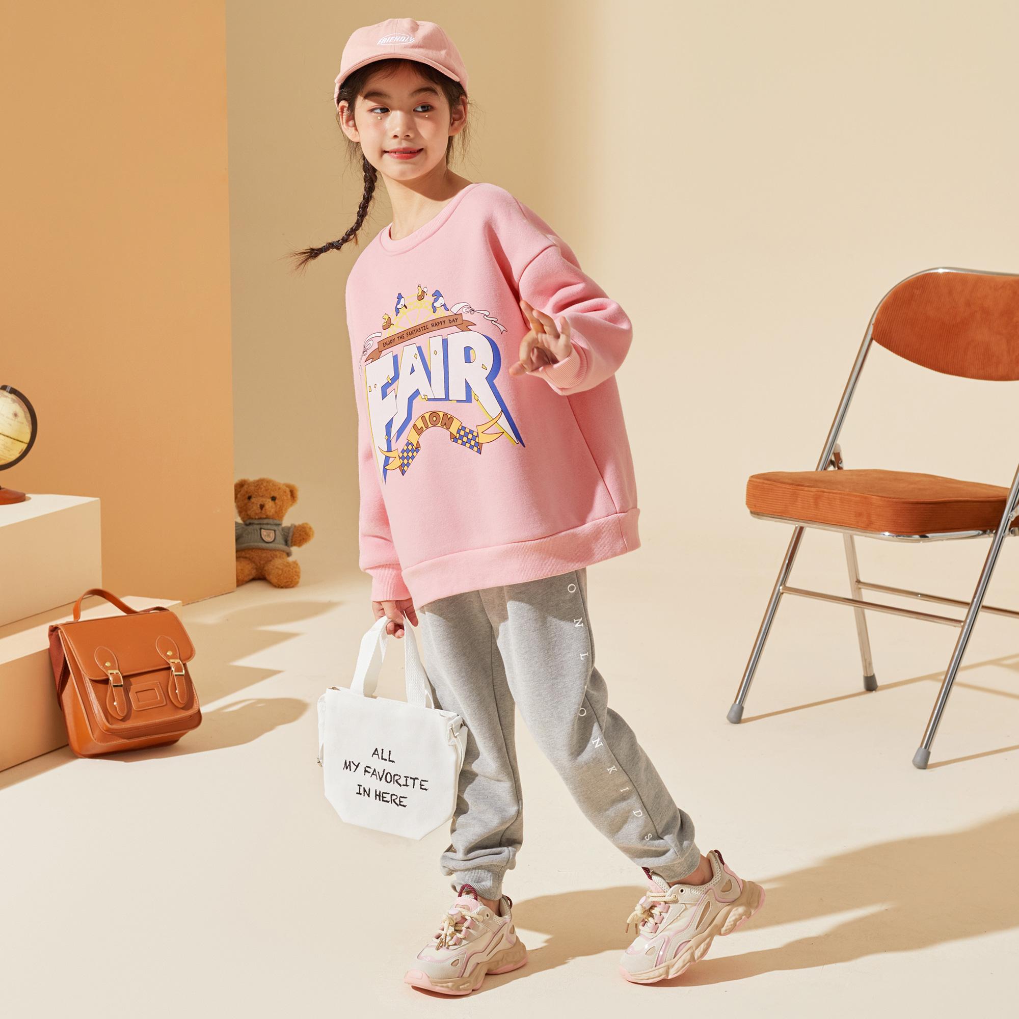 女童秋装套装2021新款儿童长袖韩版中大童儿童运动休闲套装潮