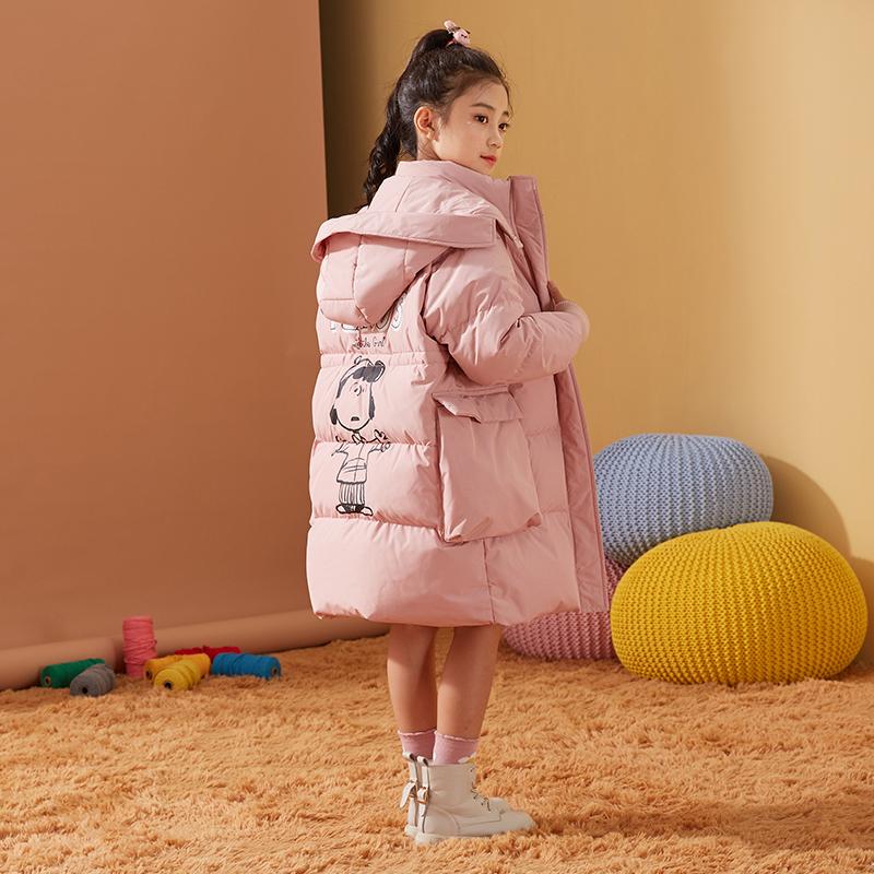 女童羽绒服2020冬装新款中大童儿童中长款韩版时尚加厚羽绒服女童