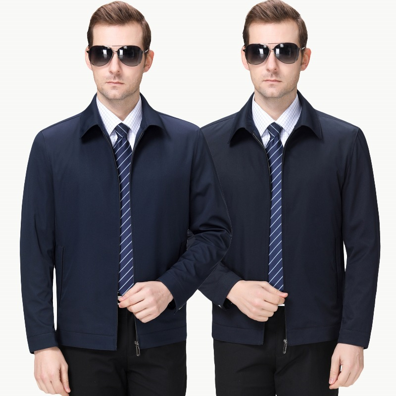 2020 mens jacket spring dad Lapel business thin large coat casual clothes large mens wear