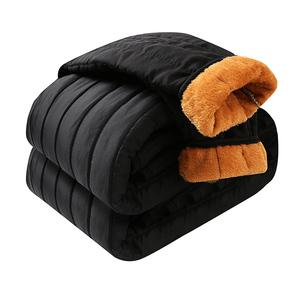 松紧带保暖裤中老年人秋冬款加绒加厚休闲长裤子冬季中年爸爸棉裤