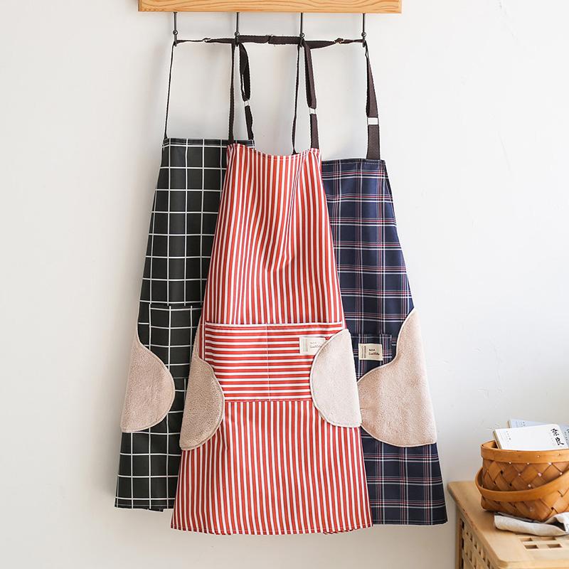 围裙家用厨房女时尚防水防油做饭可擦手韩版工作围腰可爱日系男士