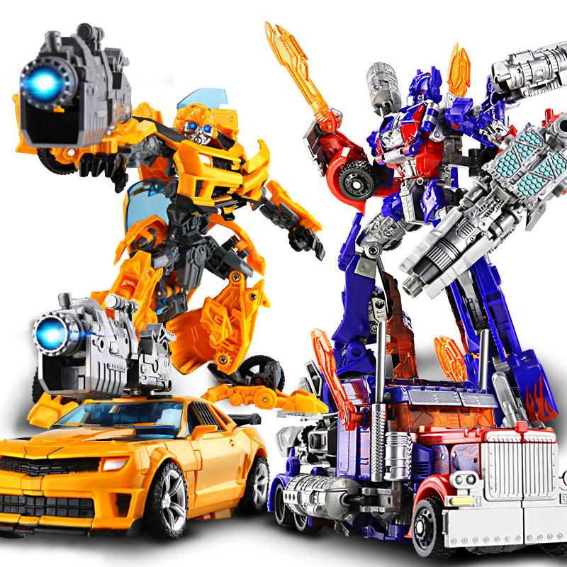 德馨变形机器人 擎天大黄蜂恐龙机变金刚 合金模型男孩玩具礼物