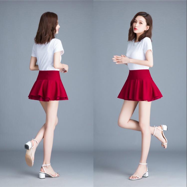 2021 summer Mini sexy miniskirt no safety pants walking light dance skirt skirt small versatile puffy skirt female