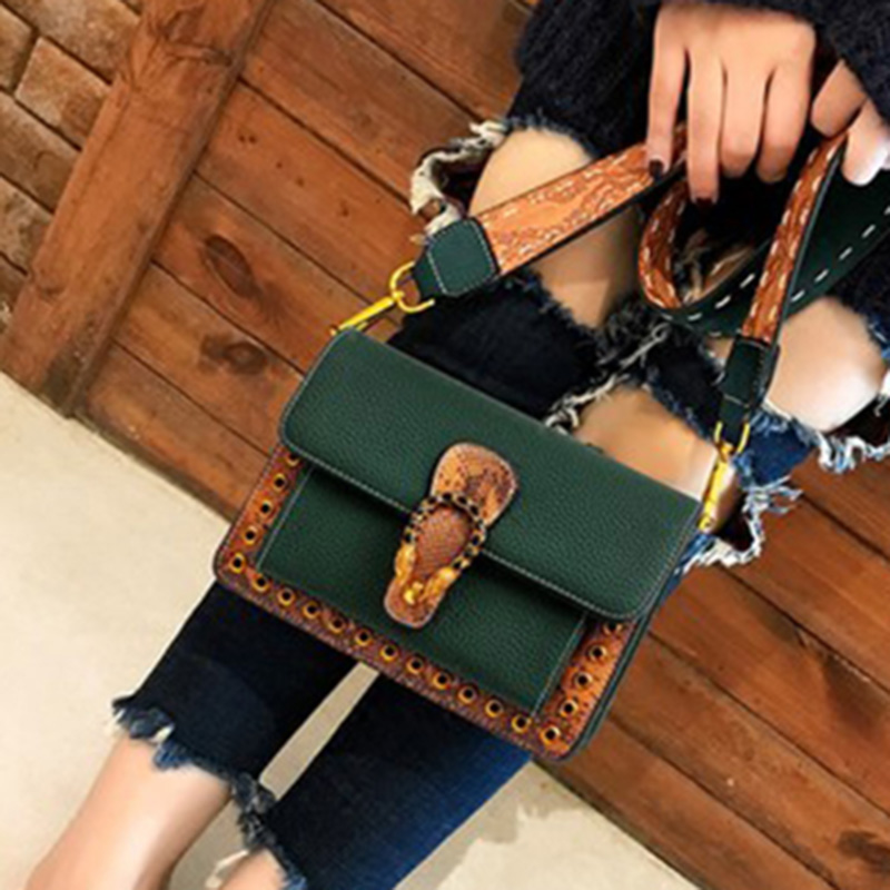 Bag womens bag 2020 new fashion net Red Cross carrying Korean small square bag versatile wide shoulder strap womens Bag Mini single shoulder bag