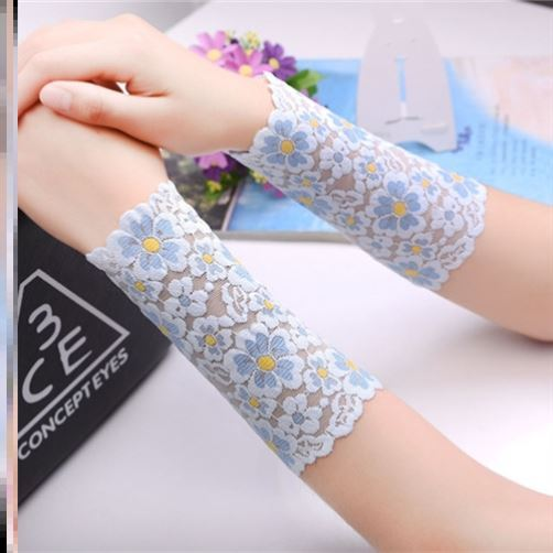 Hand bowl sheath wrist guard women's thin breathable fashion trend summer personalized hand kneepad wrist joint arm gloves