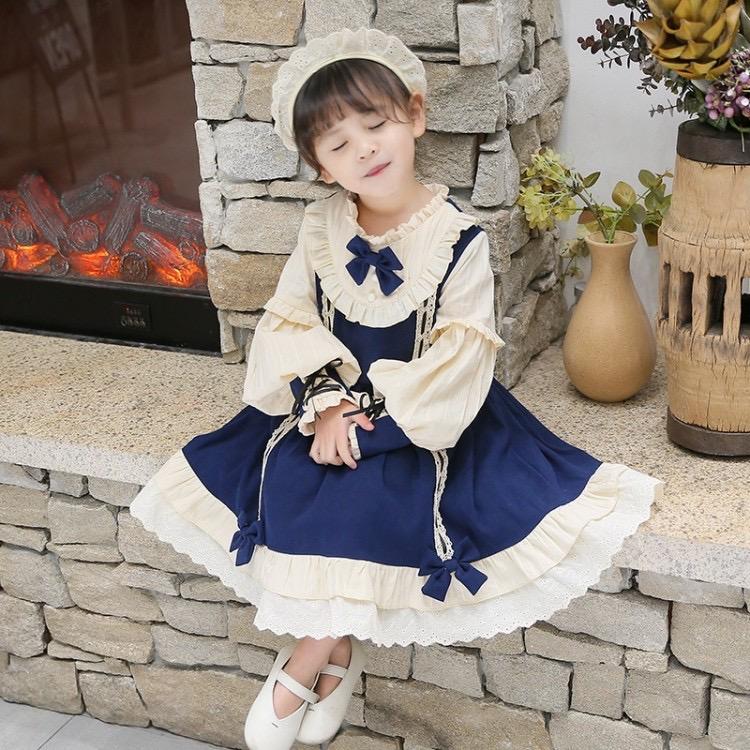 女童连衣裙公主风洛丽塔裙子萝莉2020新款洋气女孩春秋儿童公主裙