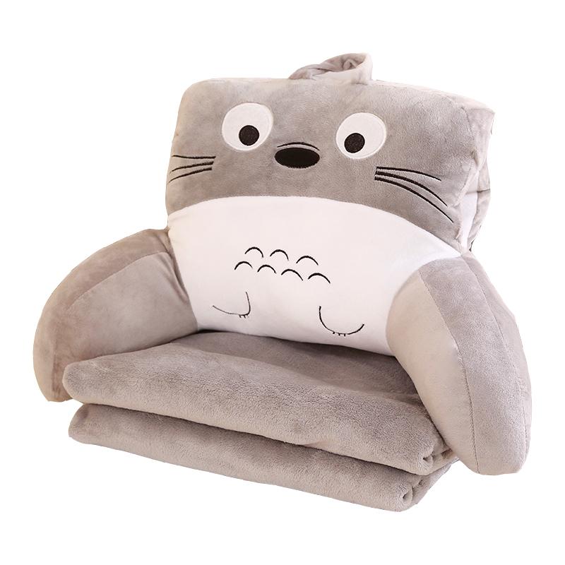床頭抱枕被子兩用靠墊靠枕辦公室腰枕腰靠沙發汽車午睡三合一毯子
