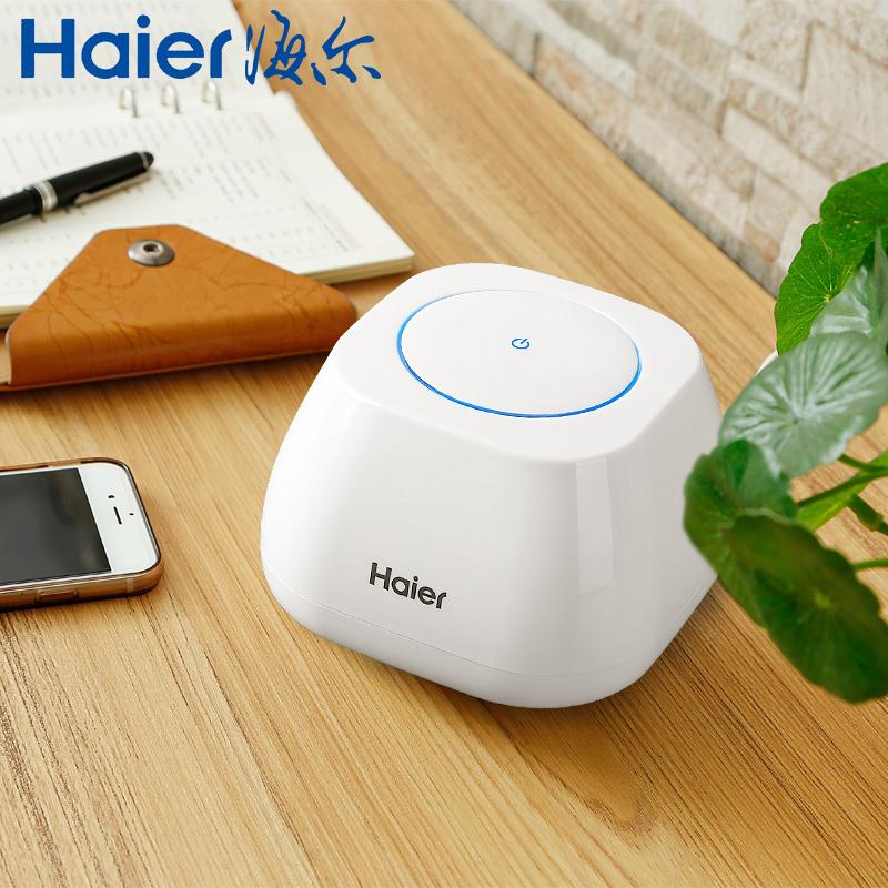 海尔桌面空气净化器迷你小型家用卧室办公室除甲醛室内二手烟神器