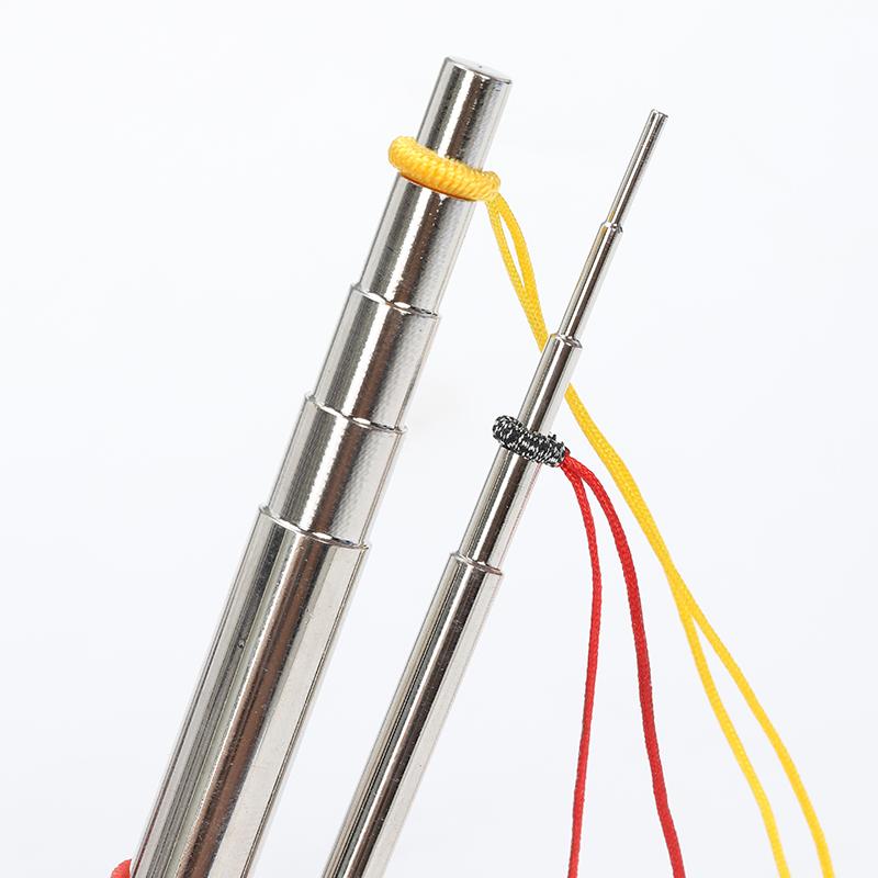 实心五段绕线棒手工编绳线圈制作工具金属卷线器DIY饰品手作套装