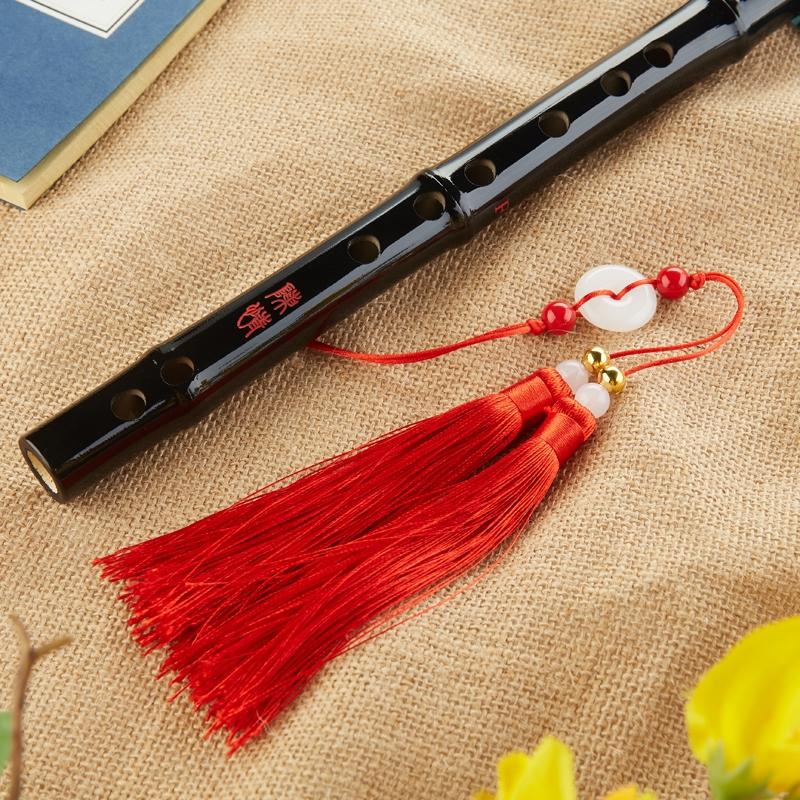 笛子竹笛紫竹笛专业演奏笛成人初学学生笛黑色古风表演乐器陈情笛
