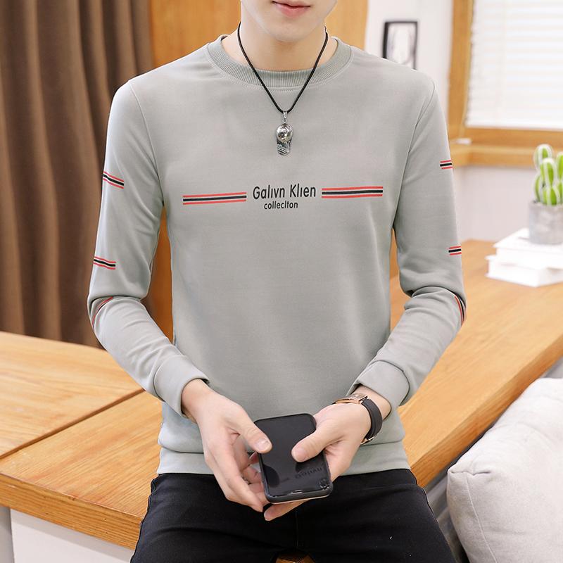 2020春秋男士长袖t恤青少年薄款卫衣韩版修身学生打底衫S04-P10