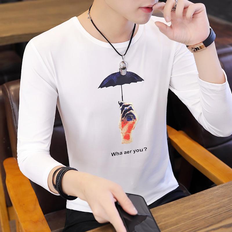 2021春秋季新款打底衫T恤牛奶丝印花长袖t恤男潮T12-p10长期做的