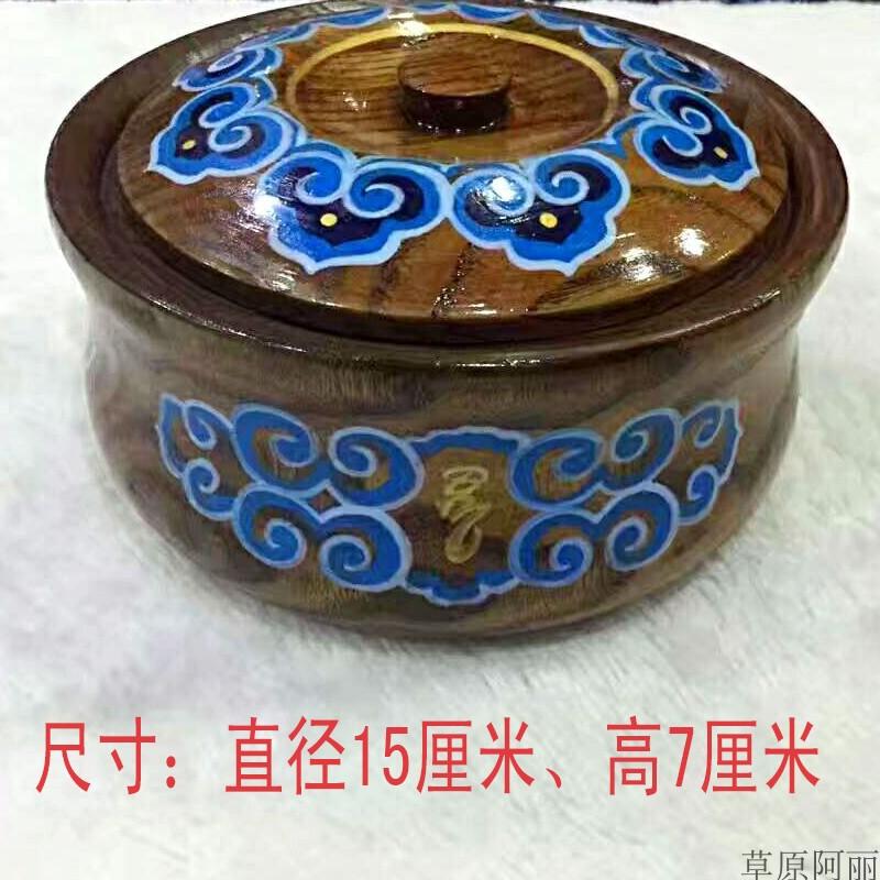 Монгольский жареный рисовой чаши Монгольская посуда Монгольские характеристики деревянная столовая посуда деревянная чаша новая коллекция Монгольская мебель для ресторанов
