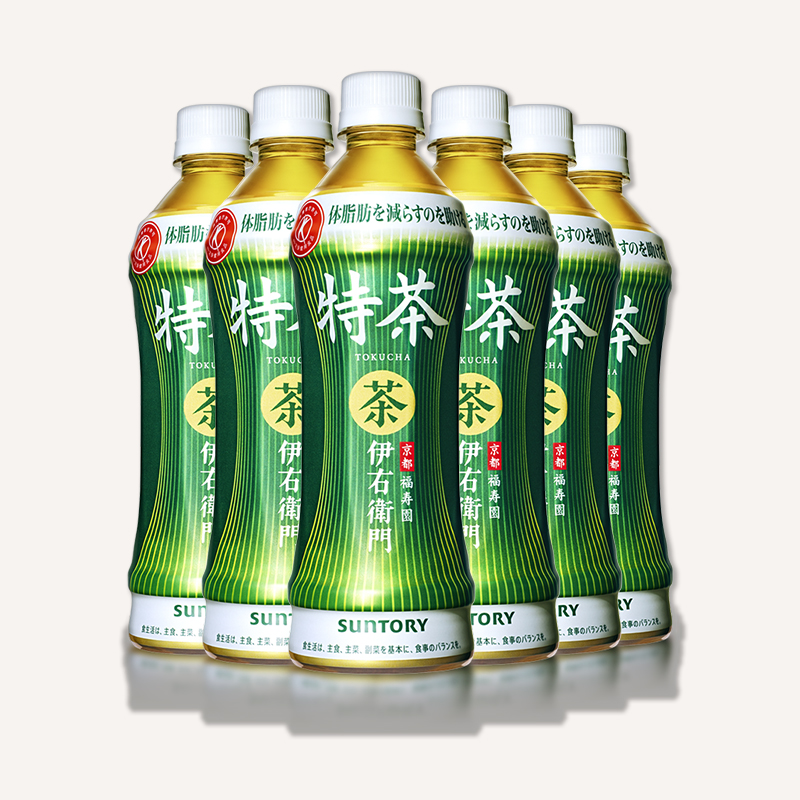 Suntory Suntory tea imported from Japan, yiyouweimen zhiliu tea, healthy green tea, sugar free beverage 500ml