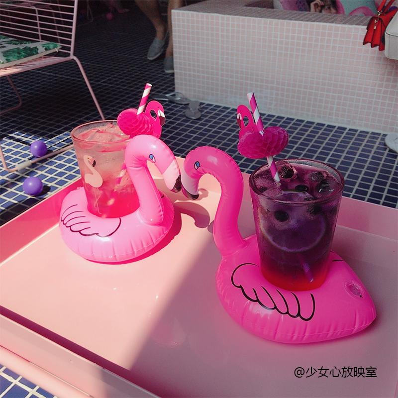 Девушка сердце релиз отражать комната 2 месяцы сильный птица газированный дрейф поплавок держатели стаканов отправить пипетка ins бассейн игрушка фотографировать реквизит