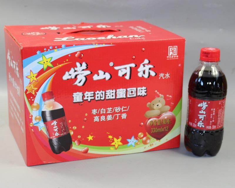 19年新日期崂山大枣可乐330mlx12瓶礼盒 青岛特产童年的回味 包邮