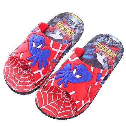 卡通蜘蛛侠儿童夏大小童防滑凉拖鞋