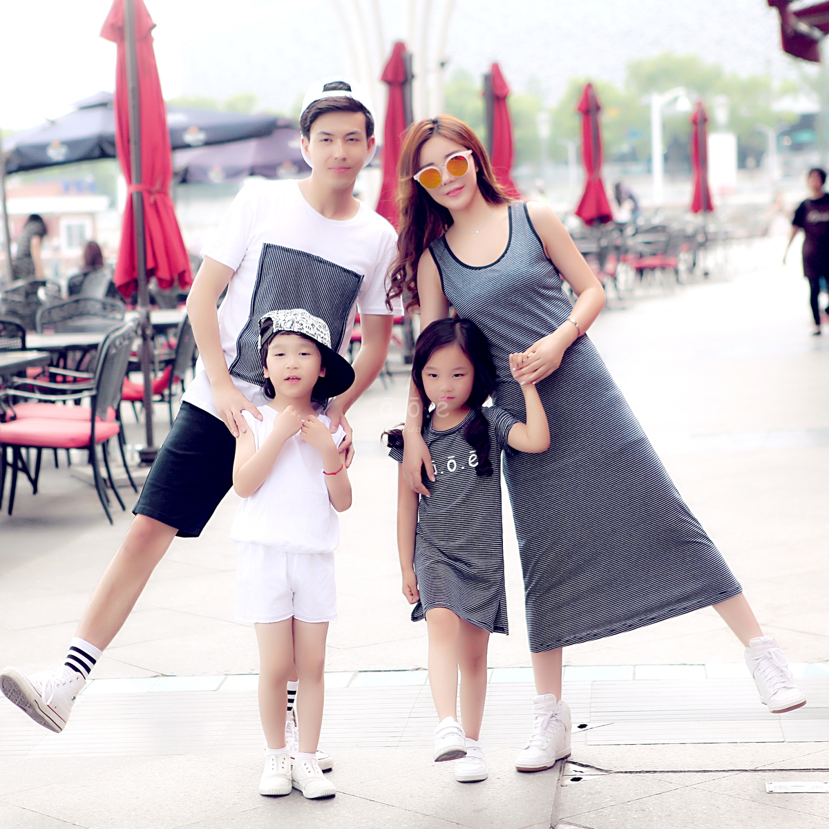 AOE parent-child clothing original parent-child clothing a family of three mother and daughter mother and son father daughter father and son