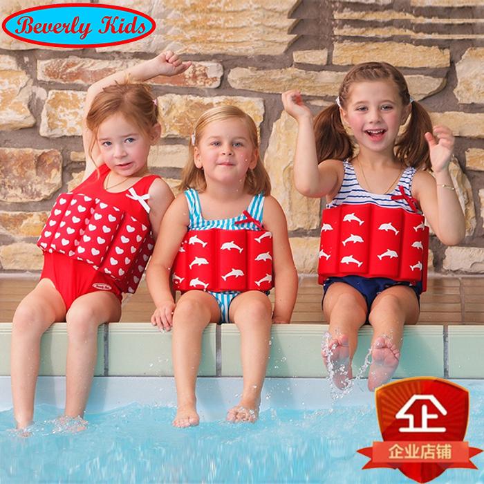 German childrens swimsuit girl boy girl one piece Buoyancy Swimsuit life jacket baby swimsuit