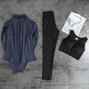 瑜伽服运动套装女健身房秋季冬天长袖跑步紧身专业速干衣网红显瘦