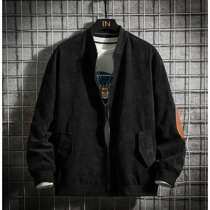 Japanese retro loose British suede Baseball Jacket mens autumn and winter new loose large jacket mens