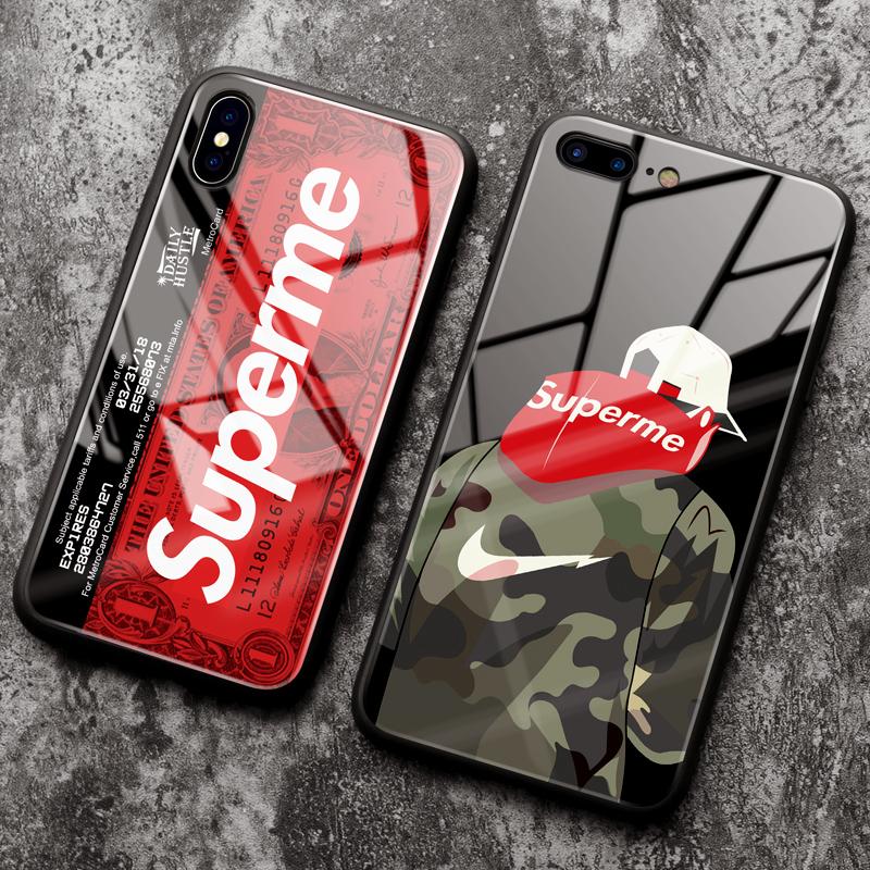 苹果6splus手机壳iphone6plus夜光i6女款男潮牌6s保护套iphone六6新款防摔个性创意超薄全包玻璃镜面高档抖音