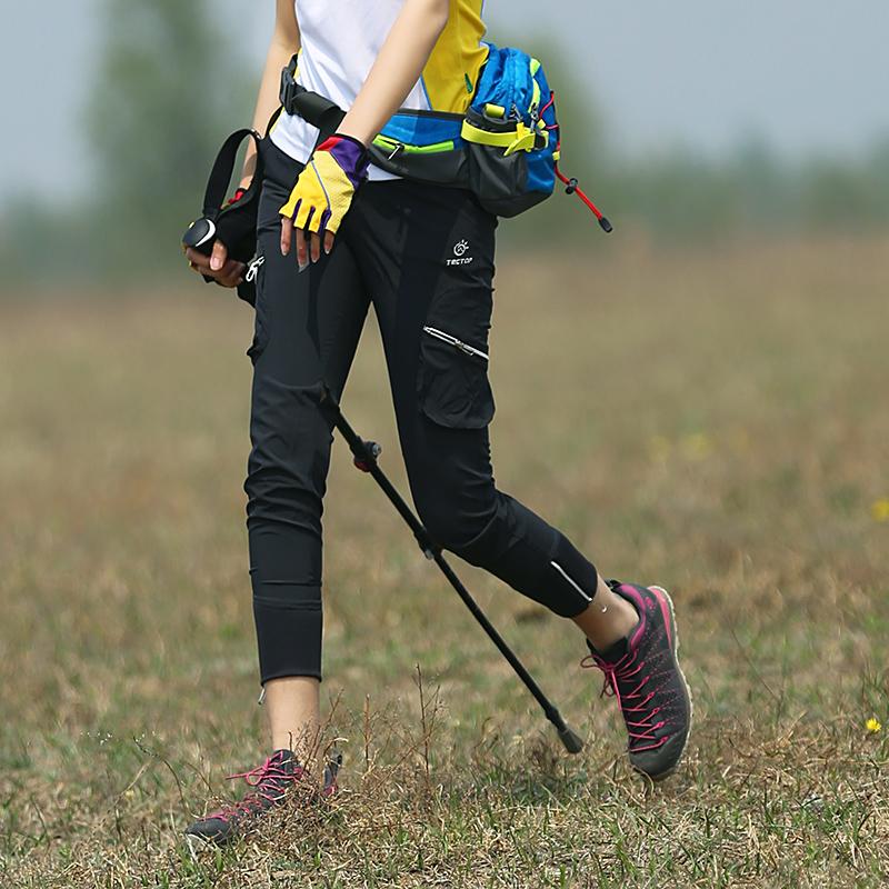 Мыть мыть на открытом воздухе женские брюки воздухопроницаемый быстросохнущие брюки женские лето быстросохнущий девять очков тонкий только шаг восхождение брюки женские спортивные брюки