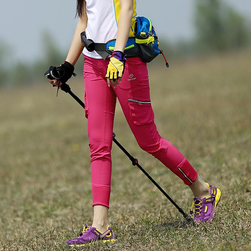 На открытом воздухе женский новый быстросохнущие девять очков спортивные брюки бег только шаг на машине тур использование домой случайный быстросохнущий тонкий