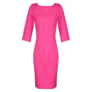 玫紅色連衣裙2020春夏女裝新款氣質一字領性感短款修身顯瘦包臀裙